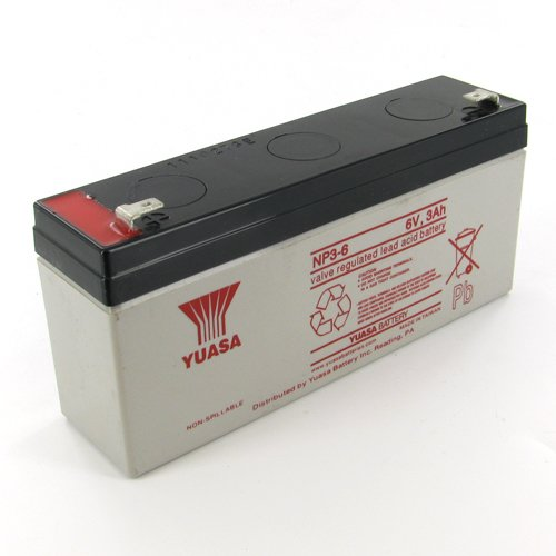 3ah Lead Acid Battery - Yuasa NP3-6 6V/3Ah Sealed Lead Acid Battery with F1 Terminal