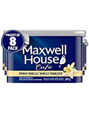 Maxwell House Café French Vanilla Instant Coffee, 240g (Pack of 8)
