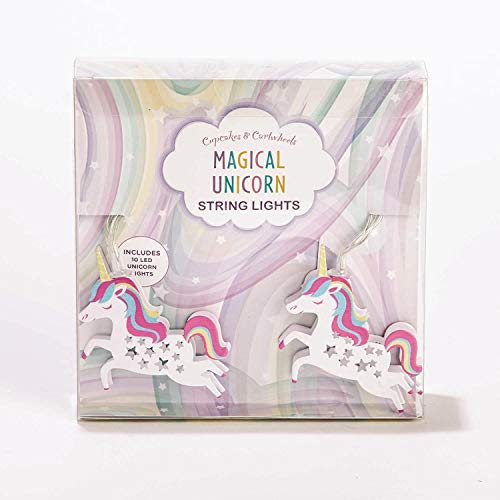 "Twos Co Magical Unicorn LED String Lights 63"" Long"