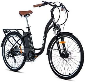 Moma Bikes E- Bike 26.2 Bicicleta Electrica de Paseo, 7 velocidades, Adultos, Unisex, Negro brillante: Amazon.es: Deportes y aire libre