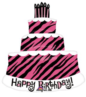 Image Unavailable Not Available For Color ZEBRA Stripes Birthday Cake
