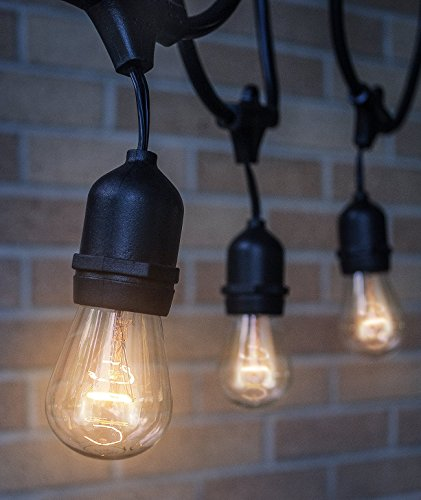 Outdoor String Lights Heavy Duty: Outdoor & Indoor Edison Style String Lights