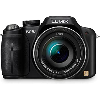 Panasonic Lumix DMC-FZ40 14.1 MP Digital Camera with 24x Optical Image Stabilized Zoom and 3.0-Inch LCD - Black (Discontinued by Manufacturer)