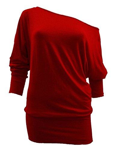 online asfashion Maniche Donna Red Maglia lunga Basic lunghe manica a Ffqwfd