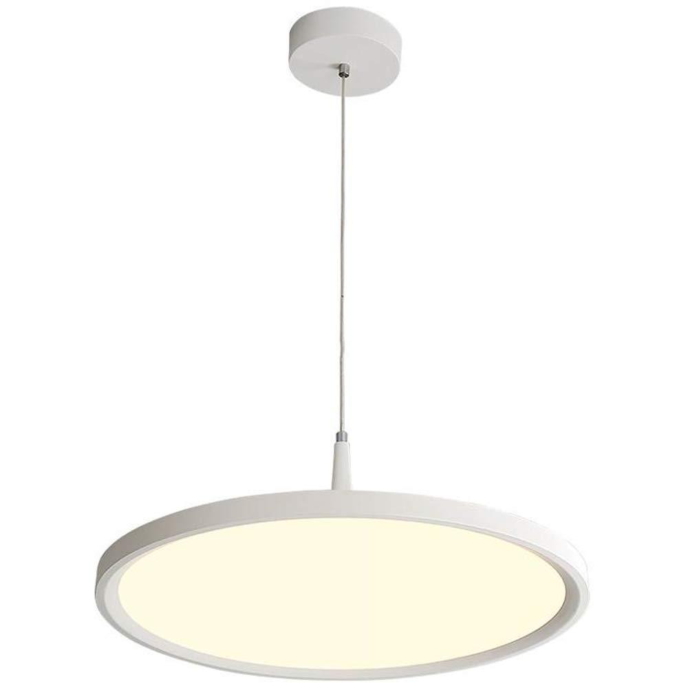 CARYS LED Pendelleuchte Rund Ø 50cm Hängelampe Hängeleuchte Modern Weiß für Wohnzimmer Esszimmer Küche Acryl und Aluminium Lampe 30W Warmweiß 3000K