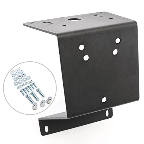 Textured Black Heavy Duty Tire Carrier Mount for Jeep Wrangler 87-95 and 97-06
