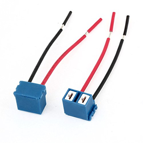 uxcell 2pcs DC 12V 2-Wires H7 Headlight Lamp Bulb Socket Wiring Harness Connector Plug Pigtail Adapter for Car (H7 Headlight Wire Harness)