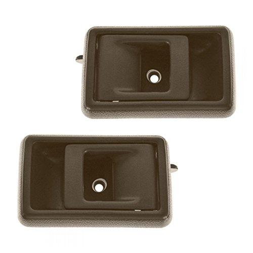 Brown Inner Interior Inside Door Handle Pair Set for Toyota Corolla Pickup Truck (Set Pair Door Handle)