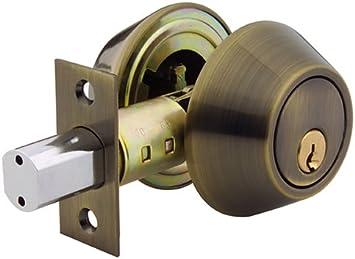 Yale 840 C5 4 Security Barricade Double Cylinder Deadbolt Antique Brass Door Dead Bolts