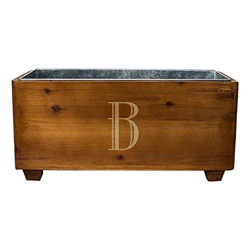 Personalized Party Beverage Cooler (Cathy's Concepts Personalized Wooden Wine Trough, Letter B)