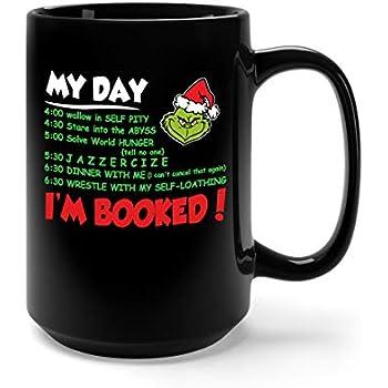 Christmas Floating Tea Cups.Amazon Com My Day I M Booked Christmas Ceramic Coffee Mug