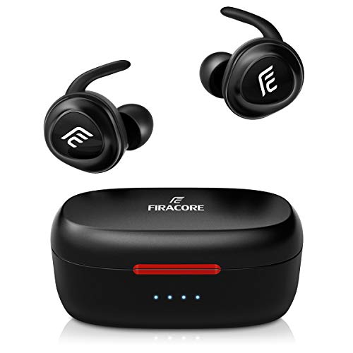 (Bluetooth Headphones, FIRACORE 5.0 True Wireless Earbuds Deep Bass HiFi Stereo Sound Bluetooth Earphones 16H Playtime Mini in Ear Headset with Charging Case and Built in Mic for Sports Running)