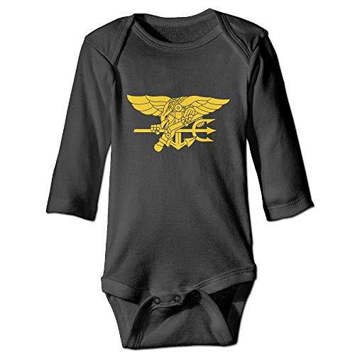 Navy Seal Logo Long Sleeve Baby Romper