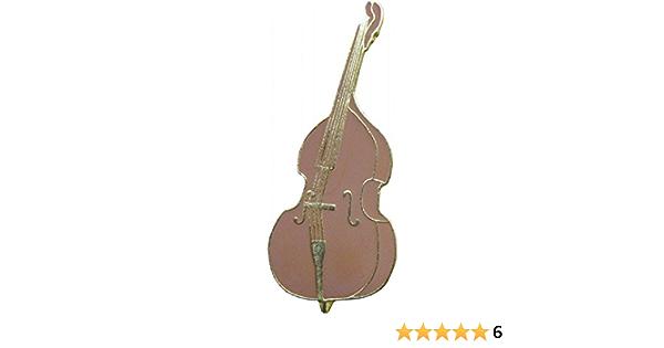 STANDUP BASS guitar vintage enamel pin pinback jazz soul funk