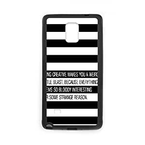Samsung Galaxy Note 4 Cell Phone Case Black quotes being creative weird LSO7980054