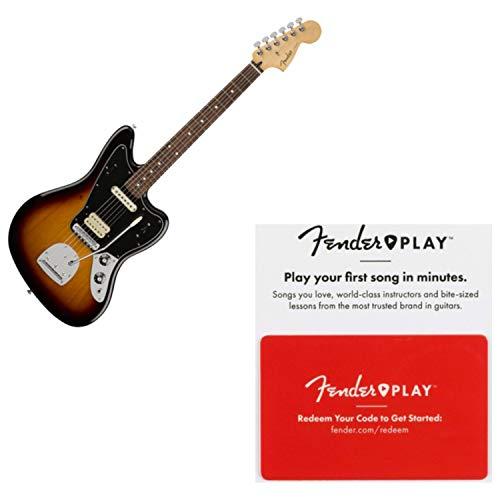 Fender Player Jaguar Pau Ferro Fingerboard 3-Tone Sunburst Guitar w/Prepaid Fen - Jaguar Sunburst Guitar