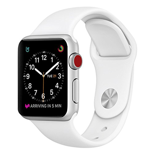 SICCIDEN Apple Watch Band 38mm [ S/M/L Size, 3 Pieces 2 Length] Soft Silicone Sport Replacement Strap for Apple Watch Series 3 Series 2 Series 1 Sport and Edition, White