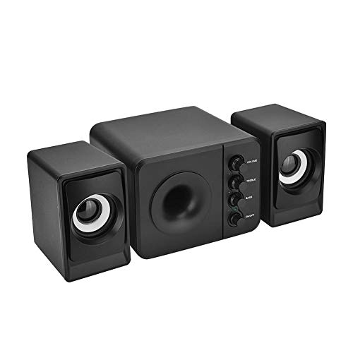 Computer Speakers PC Speakers Mini USB Speakers Wired Combination Speaker Bass Music Player Subwoofer for Cellphone…