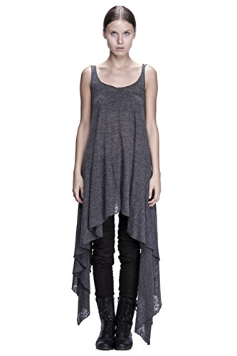 Ponte Knit Asymmetrical Draped Tank Dress by Corvus + Crux