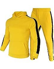 LeerKing Men's Tracksuit Joggers Activewear Hoodie Sweatsuit Pants Set Fleece Lining for Youth for Boys
