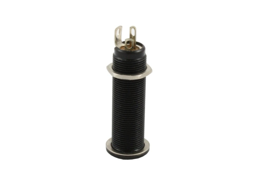 Allparts EP-0152-003 Switchcraft Black Stereo Long Threaded Jack