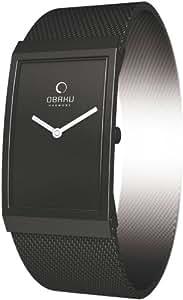 Obaku Harmony V127L BBMB - Reloj de mujer de cuarzo, correa de piel color negro