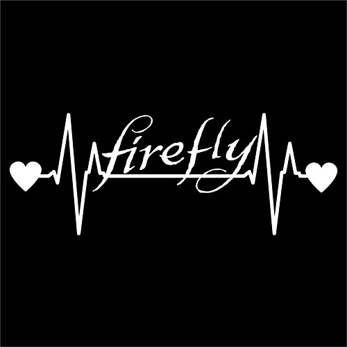 DD250 Firefly Inspired Heartbeat Decal Sticker | 7-Inches By 2.6-Inches | Premium Quality White (Catching Fireflies Costumes)