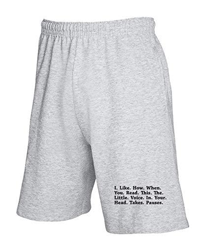 Grigio Trk0245 Head Pantaloncini Tuta T Pauses shirtshock wqvTA4p