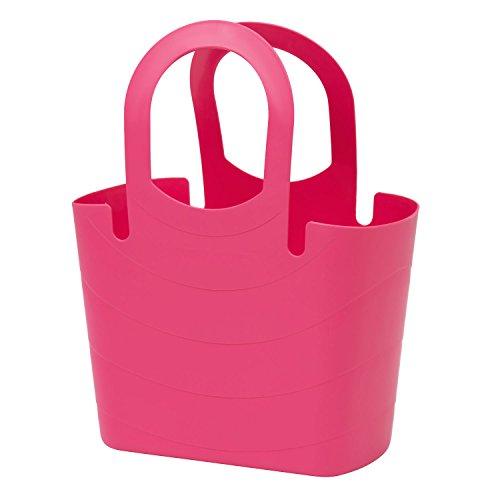 Borsa spiaggia, plastica flessibile multiuso LUCY 24 Lt colore: rosa indiano