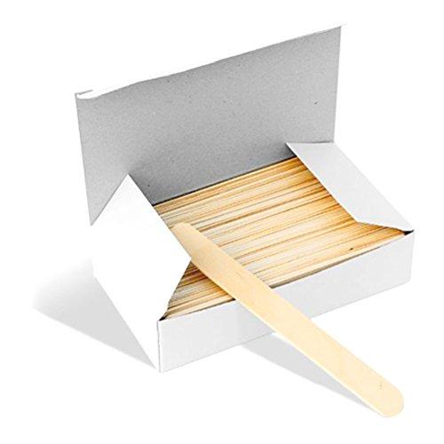 HEALIFTY 100Pcs Wooden Tongue Depressor Disposable Waxing Spatulas Wax Stick