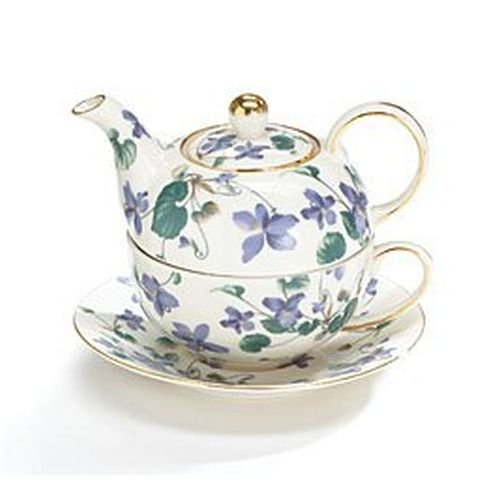 Teapot Tea For One Duo Teapot And Teacup Lavender Violets 15 Oz (Westfield Single)