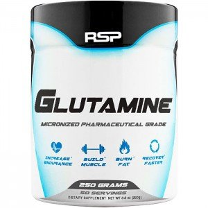 RSP Glutamine – Pure Micronized Glutamine Powder, Post Workout Muscle Recovery Supplement for Men and Women, Unflavored, 250 grams
