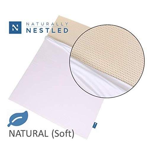 100% Natural Latex Mattress Topper - Soft Firmness - 2 Inch - Queen Size - Cotton Cover Included.