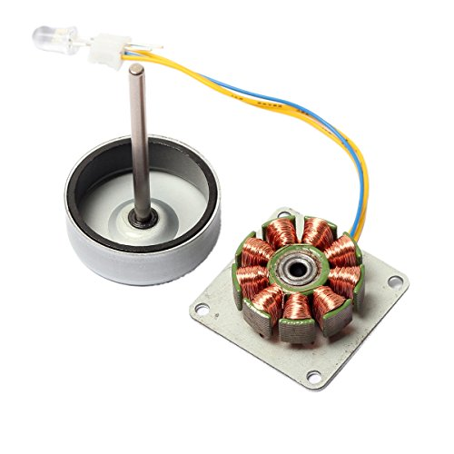 CrocSee Micro 3 Phase AC Mini Hand Brushless Motor Generator Model Experiment Teaching Aid (Motor Generator Kit)