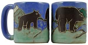 Mara Ceramic Stoneware 16 Oz. Bears Mug (Set of 2)