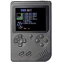 RS-6A Retro Mini Handheld Game Console, 3.0 inch 8 Bits Color 168 Games Retro FC Game Player(Black)