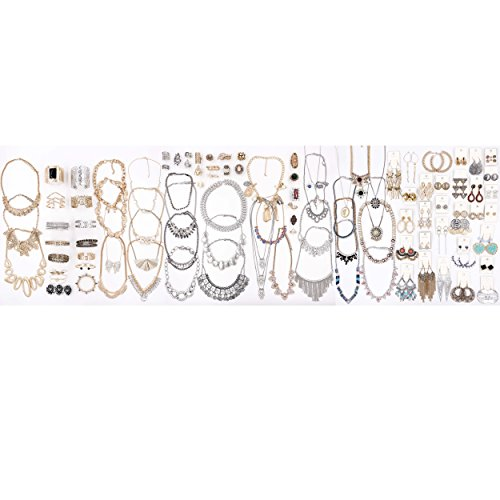 Choice by Choi 100 Pieces in Bulk for Wholesale, Fashion Jewelry, Gold & Silver, Assorted Jewelry