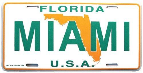 Miami License Plate , Miami Florida Souvenir License Plate