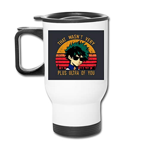 Ownspace My Hero Academia-That Wasn't Very Plus Ultra Of You Double Wall Insulated Coffee Cup For Car Travel Tumbler With Handle (My Washing Machine Won T Fill With Water)