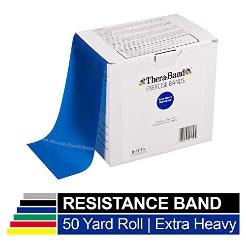 TheraBand Resistance Bands, 50 Yard Roll Professional Latex Elastic Ba