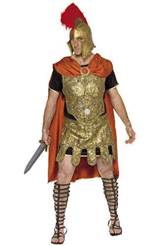 Smiffys Men's Roman Soldier Tunic Costume, Cape, Tunic and Armour, Breastplate and Skirt, Legends, Serious Fun, Size M, -