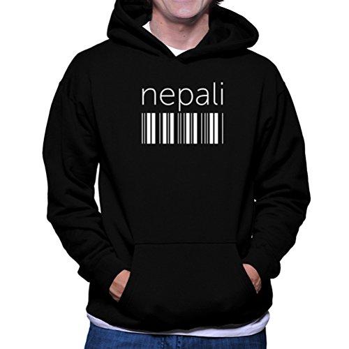 Nepali Cotton - Nepali barcode Hoodie
