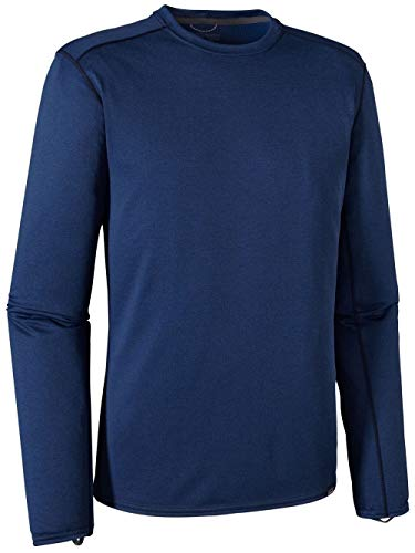 Patagonia Capilene Mid-Weight Crew - Men's Navy Blue/Channel Blue, X-Large - Patagonia Fall Shirt