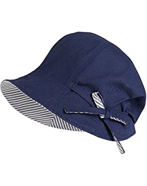 Women Cloche Hat Summer Bucket Hat Cotton Linen Casual Floppy Hat