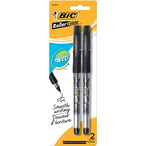 - BIC Roller Glide Deco, Fine Point, 2 Pens