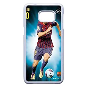Samsung Galaxy S7 Edge Phone Case White Barcelona soccer player Lionel Messi Case Cover PP7U362669