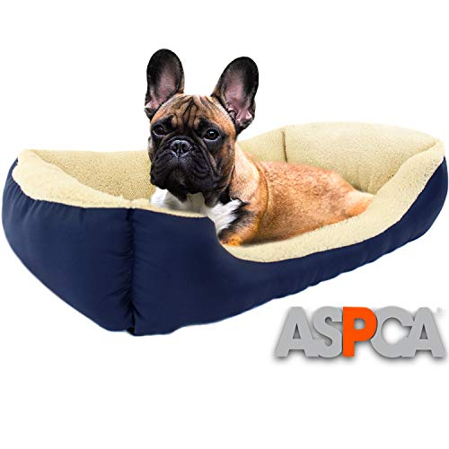 ASPCA Microtech Dog Bed, for Small to Medium Pets (Boots & Barkley Pet Bed Cover Medium)