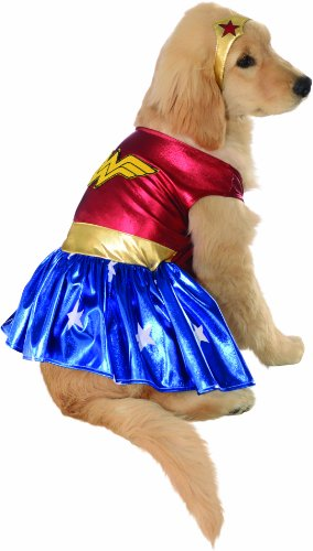 DC Comics Pet Costume, Medium, Wonder (Halloween Costumes In Boston)