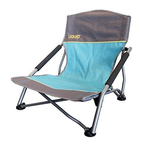 Strandstuhl bequemer Klappstuhl   extra stabile Ausführung bis 120kg   robustes 600D Rip-Stop Gewebe   extra breite Standfüße für weichen Boden   Packmaß nur 17x17x65cm   Uquip Sandy 244005