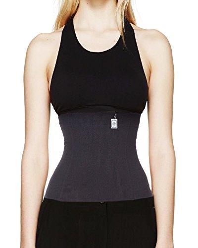 Poids perte taille sablier formateur Cincher Sport Workout gaines (XL, noir)